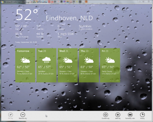 The weather App Interface