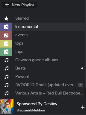 Colored folders can help users find their playlists quicker.
